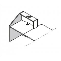 Finition gauche haut L. 77 x P. 2,8 x H. 110,3cm