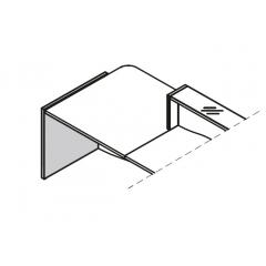 Pied bas gauche L. 77 x P. 2,8 x H. 75,5cm