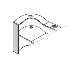 Pied gauche haut L. 21,6 x P. 2,8 x H. 110,3cm