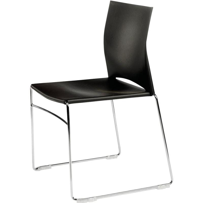 chaise de cantine en plastique design jill sitek 3680. Black Bedroom Furniture Sets. Home Design Ideas