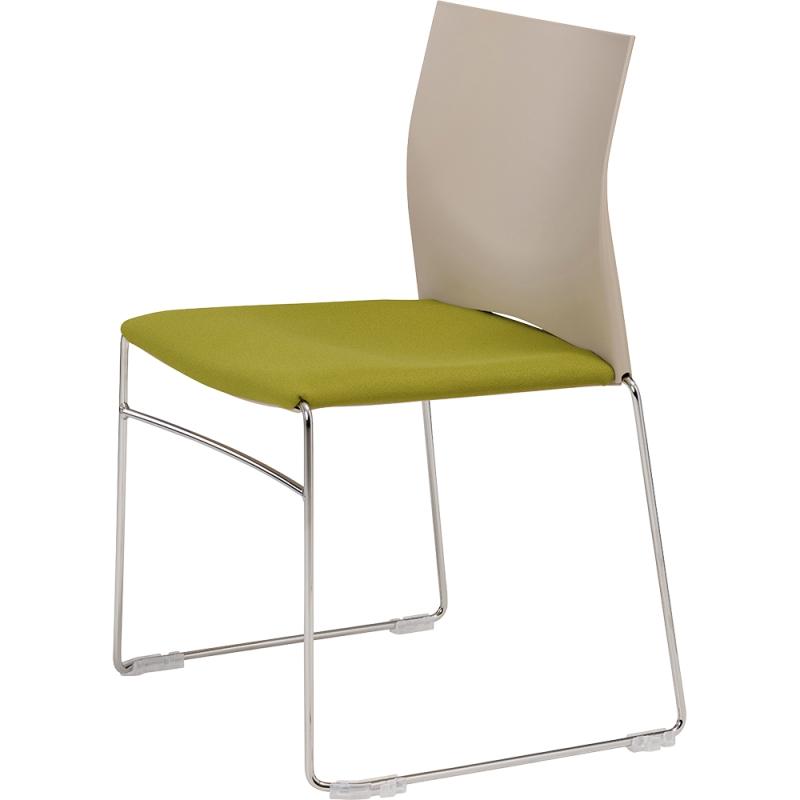Chaise Assise Tissu Et Dossier Plastique