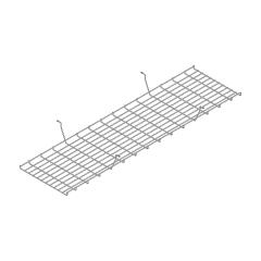 Goulotte bench L. 145 x P. 39,6 x H. 13cm
