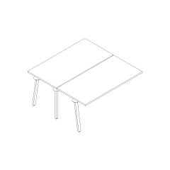 Bureau bench Ogi A, L. 160 x P. 161 x H. 74cm, suivant