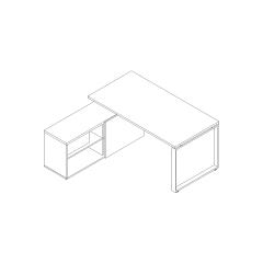 Ogi Q armoire desserte, L. 170,2 x 160 x P. 160 x H. 74cm