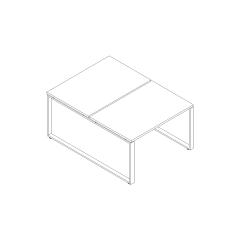 Ogi Q bench, L. 120 x P. 161 x H. 74cm, départ