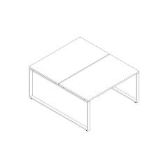 Ogi Q bench, L. 140 x P. 161 x H. 74cm, départ