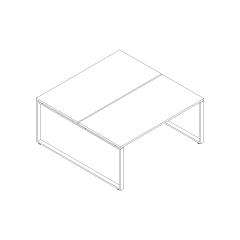 Ogi Q bench, L. 160 x P. 161 x H. 74cm, départ