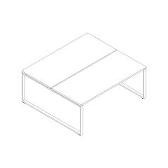 Ogi Q bench, L. 180 x P. 161 x H. 74cm, départ