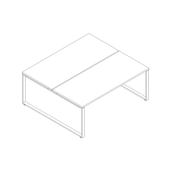 Ogi Q bench, L. 180 x P. 161 x H. 74cm