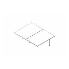 Ogi bench, L. 120 x P. 161 x H. 74cm, suivant