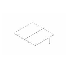 Ogi bench, L. 140 x P. 161 x H. 74cm, suivant