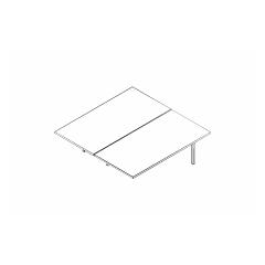 Ogi bench, L. 160 x P. 161 x H. 74cm, suivant