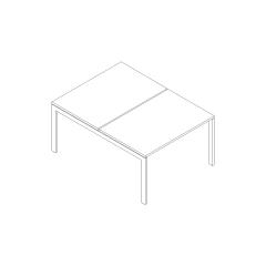 Ogi U bench, L. 120 x P. 161 x H. 74cm, départ