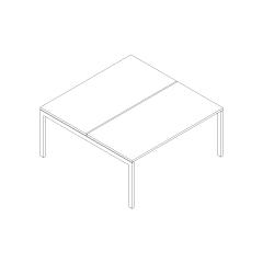 Ogi U bench, L. 160 x P. 161 x H. 74cm, départ
