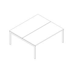Ogi U bench, L. 180 x P. 161 x H. 74cm, départ